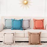 economico -Fodera per cuscino geometrico 1 pz 45x45 cm lino per divano camera da letto