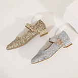 economico -Per donna scarpe da sposa Quadrato Punta tonda Pompe da sposa PU Sintetico Oro Argento
