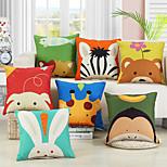 economico -doppio lato 1 pz fodera per cuscino cartone animato stampa 45x45 cm lino per divano camera da letto