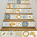abordables -Creative 3d escalier autocollant peint à la main motif de fruits bricolage imitation décoration autocollant de la maison autocollant mural étanche