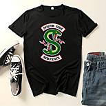 abordables -Inspiré par Cosplay Riverdale Microfibre Costume de Cosplay Manches Ajustées Imprimé Imprimés Photos Tee-shirt Pour Homme / Femme