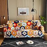 abordables -Housse de canapé extensible à imprimé bohème floral orange, étanche à la poussière, housse de canapé extensible, housse de canapé en tissu super doux avec une taie d'oreiller gratuite