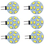 abordables -6 pièces 2 W LED à Double Broches 260 lm G4 9 Perles LED SMD 5730 Blanc Chaud Blanc Naturel Blanc 9-30 V