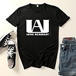 abordables -Inspiré par Couverture My Hero Academia / Boku No Hero Microfibre Costume de Cosplay Manches Ajustées Imprimé Imprimés Photos Tee-shirt Pour Homme / Femme