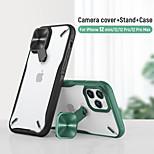 abordables -téléphone Coque Pour Apple Coque Arriere iPhone 12 iPhone 12 Pro Max iPhone 12 Pro iPhone 12 Mini Avec Support Clair Armure TPU PC