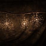 abordables -feux d'artifice led guirlande de fées lumière extérieure étanche batterie aa puissance blanche chaude suspendue starburst guirlande de vacances lumières ip65 pour mariage maison patio jardin