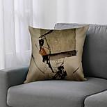 economico -Fodera per cuscino art deco doppio lato 1 pezzo stampa 45x45cm lino per divano camera da letto