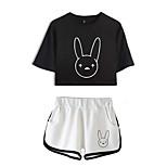 abordables -Inspiré par Cosplay mauvais lapin Mélangé polyester / coton Costume de Cosplay Tenue Imprimé Graphique Short Pour Femme