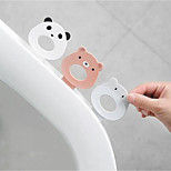 abordables -dessin animé clamshell toilette toilette clamshell poignée clamshell ménage en plastique / auto-adhésif