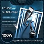 economico -Remax Da tipo C a tipo C Cavi Intrecciato Carica rapida 5 A 1.0m (3 piedi) TPE Per Samsung Xiaomi Huawei Appendini per cellulare