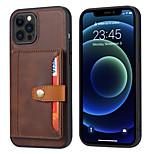 abordables -téléphone Coque Pour Apple Coque Arriere Wallet iPhone 12 Pro Max 11 SE 2020 X XR XS Max 8 7 6 Portefeuille Antichoc Magnétique Couleur Pleine faux cuir TPU