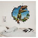 economico -La decorazione della priorità bassa della casa della stanza dei bambini del parco dei dinosauri della parete rotta 3d può essere rimossa gli adesivi