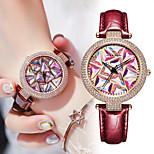 economico -orologio da donna, movimento giapponese, quadrante con diamanti colorati