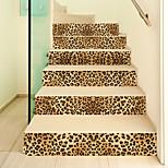 economico -adesivo creativo per scale 3d stampa leopardata fai da te imitazione decorazione casa adesivo adesivo da parete impermeabile