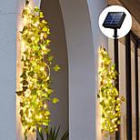 economico -ha condotto la luce della stringa ip65 energia solare impermeabile all'aperto ha condotto le luci appese a stringa esterna artificiale foglia di edera piante per giardino recinzione decorazione appesa