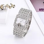 economico -cinturino in acciaio quadrato con cinturino in diamanti da donna di lusso