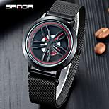 economico -orologio sanda orologio moda impermeabile orologio sportivo da uomo con cinturino a maglie orologio al quarzo