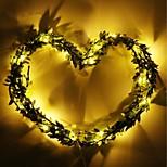 economico -2m Fili luminosi 20 LED Bianco caldo San Valentino Pasqua Feste Decorativo Vacanze Batterie AA alimentate