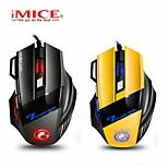 economico -mouse da gioco ergonomico cablato 7 pulsanti led 5500 dpi mouse per computer usb mouse gamer x7 silenzioso mause con retroilluminazione per pc laptop