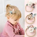 abordables -enfants bébé filles porter quotidien doux floral floral accessoires de cheveux en nylon blanc rougissant rose poussiéreux rose taille unique