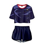 abordables -Inspiré par Jujutsu Kaisen Yuji Itadori Costume de Cosplay Tenue Térylène 3D 2 Pièces Imprimé Short Pour Femme / Homme