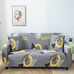 economico -copridivano elasticizzato con stampa foglie grigie copridivano onnipotente fodera per divano in tessuto super morbido con una custodia gratuita (sedia / divanetto / 3 posti / 4 posti)