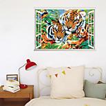 economico -3D / Animali Adesivi da parete Camera da letto / Scala, Rimovibile / Pre-incolla PVC Decorazioni per la casa Adesivo 1 pc