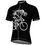economico -21Grams Per uomo Manica corta Maglia da ciclismo Estate Elastene Nero Blu Giallo Bicicletta Superiore Ciclismo da montagna Cicismo su strada Asciugatura rapida Traspirante Gli sport Abbigliamento