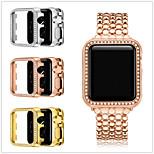 economico -Custodie Per Apple  iWatch Apple Watch Serie 6 / SE / 5/4 44 mm / Apple Watch Serie  6 / SE / 5/4 40mm / Apple Watch Serie  3/2/1 38 mm Lega Proteggi Schermo Custodia per Smartwatch  Compatibilità 38