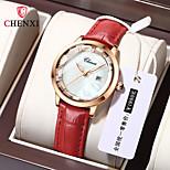 economico -orologio da donna con diamanti impermeabile in pelle di marca chenxi vibrato in diretta stile esplosione orologio da celebrità con orologio da donna orologio da donna