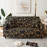 economico -Copridivano 1 pz geometrico nero linee gialle elastico soggiorno divano per animali domestici copertura antipolvere reclinabile
