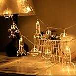 economico -led spazio astronauta luci stringa batteria o operazione usb 1.5 m 3 m 6 m razzo pianeta led fata stringa luce camera dei bambini festa di festa decorazione della casa lampada