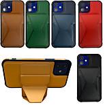 economico -telefono Custodia Per Apple Custodia ad adsorbimento magnetico iPhone 12 Pro Max 11 SE 2020 X XR XS Max 8 7 6 Resistente agli urti A prova di sporco Con supporto Tinta unita pelle sintetica