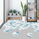 economico -creativo blu oceano marmo esagonale pavimento antiscivolo adesivo in pvc cucina bagno pavimento impermeabile autoadesivo adesivo murale rimovibile fai da te