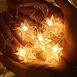 abordables -star led string light 1.5m 3m 10leds 20leds usb ou batterie opération guirlande fée guirlande lumineuse pour la fête de mariage noël maison de vacances décoration extérieure