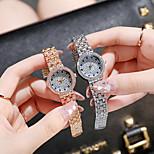 economico -orologio rotondo in oro con strass stellato orologio da donna moda orologio al quarzo