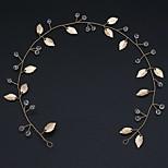abordables -Fait à la Main Mariée Fil de cuivre Coiffe avec Cristal 1 PC Mariage / Fête / Soirée Casque