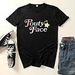 abordables -Inspiré par Cosplay Addison Rae Costume de Cosplay Manches Ajustées Microfibre Imprimés Photos Imprimé Tee-shirt Pour Femme / Homme