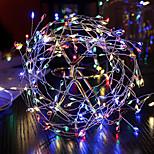 abordables -guirlande de lumières led pétard fil de cuivre flexible 2m 5m ensemble guirlande de fées lumière de vacances pour mariage décoration de salle de fête de vacances blanc chaud lampe colorée aa à piles