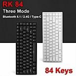 economico -rk84 84 tasti bluetooth 51 / 24g / type-c tastiera da gioco meccanica a tre modalità interruttori cherry mx bianco blacklight porta hub usb