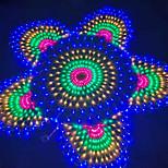 abordables -3 paon mesh net 3.5m led guirlande lumineuse étanche flexible net home rideau string coloré éclairage ip65 pour extérieur patio cour pelouse arbre décor lampe vacances lumière avec prise européenne