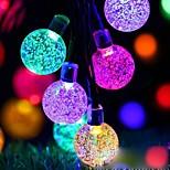 abordables -guirlande lumineuse led 7m 50leds boule à bulles led solaire extérieur guirlande étanche guirlandes blanches chaud blanc coloré guirlandes blanches guirlande de noël fête de mariage jardin lumières de