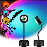 economico -Luce del proiettore Lampada al tramonto Proiettore LED rotante Feste Palco Per eventi Colori primari