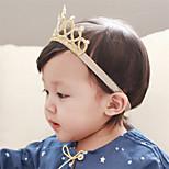 abordables -enfants bébé filles 1 pièces enfant en bas âge infantile unisexe actif quotidien porter de couleur unie brillant métallique en nylon cheveux accessoires or argent taille unique