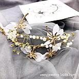 abordables -Fourniture directe d'usine de bijoux de mariée, bandeau de perle de cristal de tissu de libellule d'alliage, bandeau d'accessoire de double cheveux de fée