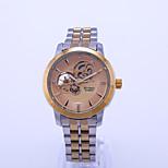 economico -orologio meccanico impermeabile beino orologio da uomo luminoso cinturino in acciaio a carica automatica con cinturino in acciaio