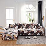 economico -copridivano contratto geometrico colorato stampa antipolvere elasticizzato divano a forma di l (riceverai 1 federa come regalo gratuito)