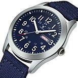 economico -orologio in tela di nylon orologio sportivo impermeabile orologio militare stile classico da uomo