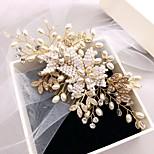 abordables -Vente directe d'usine d'accessoires de cheveux de mariée peignes de cheveux de perles de riz tissés à la main coréens aliexpress accessoires de peigne de vente à chaud