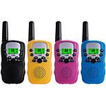 abordables -talkies-walkies pour enfants pack de 4, longue portée 3 miles dans les champs ouverts, radio portable 22 canaux 2 voies (sans batterie, couleur unie)